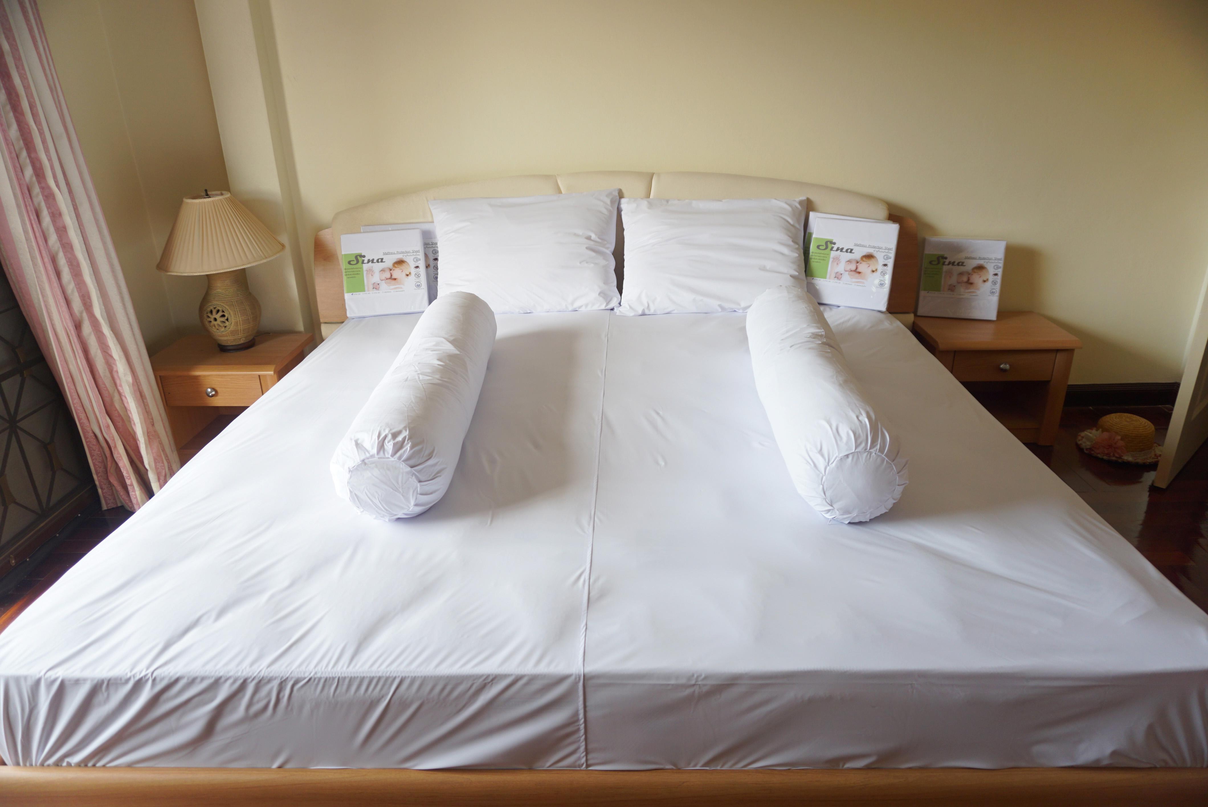 ผ้าปูที่นอนกันน้ำกันไรฝุ่น 6 ฟุต
