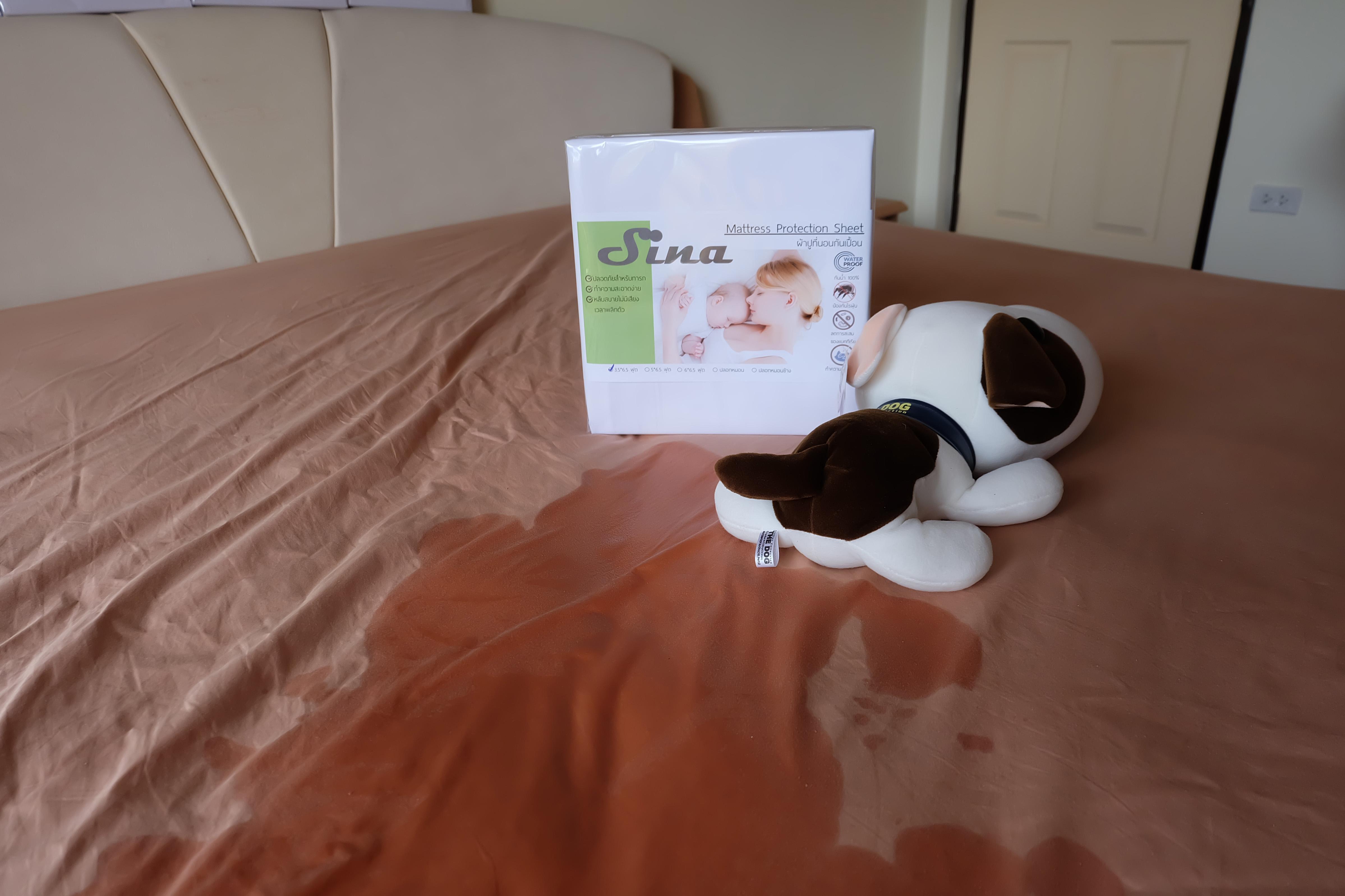 ผ้าปูที่นอนกันน้ำกันไรฝุ่น แก้ปัญหาน้ำหก